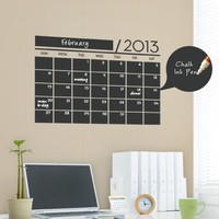 SALE 2016 Calendar Decal, Chalkboard Vinyl Wall Calendar Decal with Extra Years by Simple Shapes