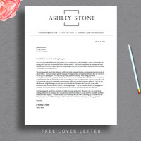 Professional Resume Template for Word & Pages (1 + 2 Page Resumes Included) + Cover Letter + Tips | Word Resume Template  | INSTANT DOWNLOAD