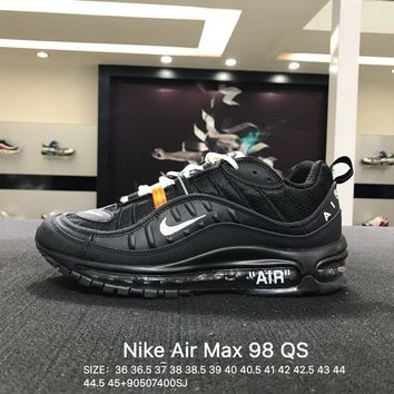 Virgil Abloh x Nike Air Max 98 Black Sports Running Shoes Sneaker