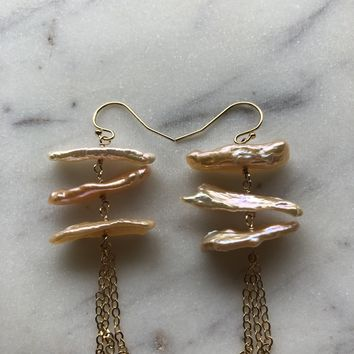 Limited Edition Champagne Pearl Earrings