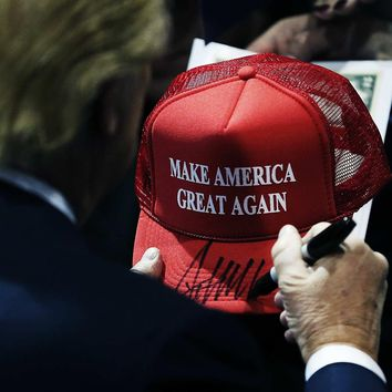 Mesh Summer MAKE AMERICA GREAT AGAIN Print Trucker Caps Donald Trump Men Women High Quality Flat Bill Snapback Hats Breathable