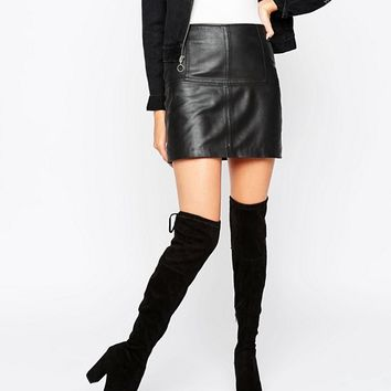 Dune Sibyl Thigh High Suede Heeled Over The Knee Boots at asos.com