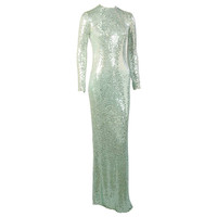 Norman Norell Sea Green Mermaid Gown ex Collection of Denise