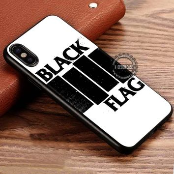 Band Black Flag iPhone X 8 7 Plus 6s Cases Samsung Galaxy S8 Plus S7 edge NOTE 8 Covers #iphoneX #SamsungS8