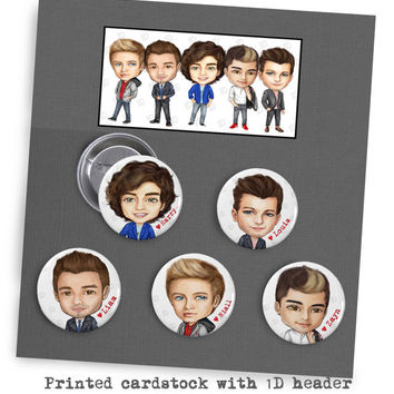 One Direction Button Set