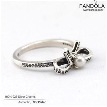 Compatible with Pandora Authentic 100% 925 Sterling Silver Rings Crystalized Snowflake