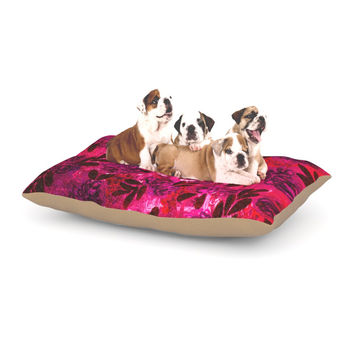 "Ebi Emporium ""Grunge Flowers IV"" Pink Red Dog Bed"