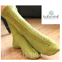 Knitting Pattern/Instant Download/PDF Download/Socks Knitting Pattern/T117