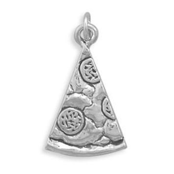 Sterling Silver Pizza Charm