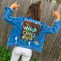 Wild Child Patched Denim Jacket