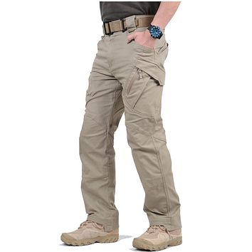 Tactical Cargo Pants Men Combat Army Military Pants Cotton Many Pockets Stretch Flexible Man Casual Trousers