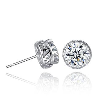 ON SALE - Grand Crown IOBI Crystal Stud Earrings