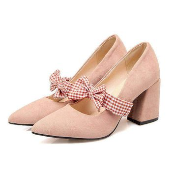 Women's Sweet Bow Shallow Heels