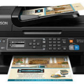 Epson WorkForce WF-2630 All-in-One Color Multifunction Injet Printer - Black (C11CE36201)