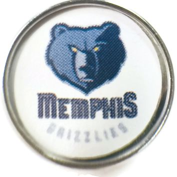 NBA Basketball Logo Memphis Grizzlies 18MM - 20MM Fashion Snap Jewelry Snap Charm New Item