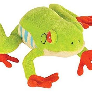 "Wildlife Tree 8"" Red-Eyed Tree Frog Stuffed Animal Plush Floppy Zoo Animal Den Collection"