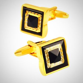 Luxury Crystal Cuff-links for Men