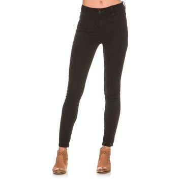 FREE PEOPLE FREE PEOPLE BLACK BEVERELY SKINNY JEAN