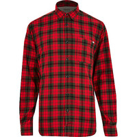 River Island MensRed Jack & Jones Vintage check shirt