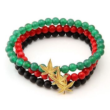 The Rasta Bracelet Set - Designed by Snoop Dogg x King Ice