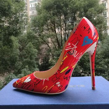 Graffiti Colorful Stiletto Shoes