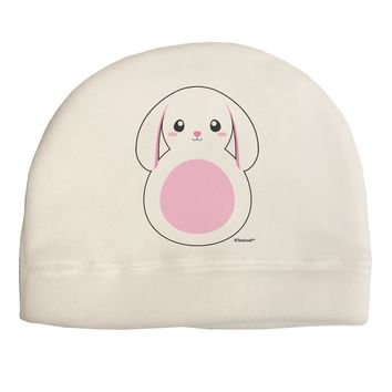 Cute Bunny with Floppy Ears - Pink Child Fleece Beanie Cap Hat by TooLoud