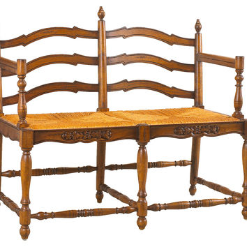 """French Heritage, Normandy 40"""" Bench, Toffee/Straw, Bedroom Bench"""