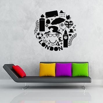 Wall Stickers Vinyl Decal I Love London England Great Britain Decor Unique Gift (z1861)