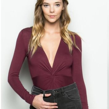Twist Wine Bodysuit