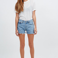 Urban Renewal Vintage Originals Raw Edge Denim Shorts in Blue - Urban Outfitters