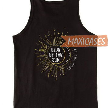 Live by the sun love by the moon tank top men and women Adult