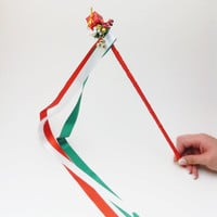 Christmas wand, for christmas, christmas, christmas accessories, red, green and white wand, 12 pcs