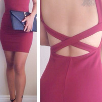 Elisa Cutout Back Dress (more colors)