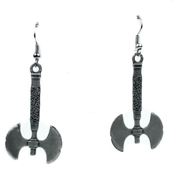 Dwarf Warrior Battle Ax Earrings Lord of the Rings Cosplay