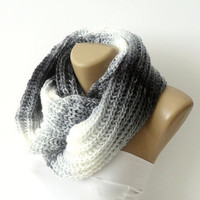 infinity knitted women scarf loop scarf scarves by seno on Etsy