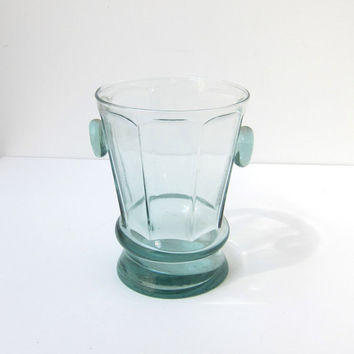 Vintage retro 1940s 1950s faceted glass ice bucket