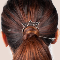 Silver Arrow Hairclip
