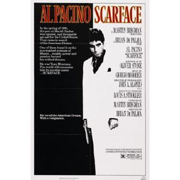Scarface Movie poster Metal Sign Wall Art 8in x 12in