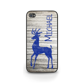 Personalized Christmas Case, Gift for Him, iPhone 6 Cases, Holiday, Reindeer, iPhone 5 cases, Cell Phone Case, Gift idea - X009