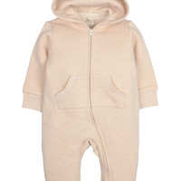Hooded Bodysuit (Thick Cotton) - Brown