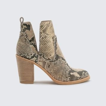 Dolce Vita Shay Booties in Snake Print