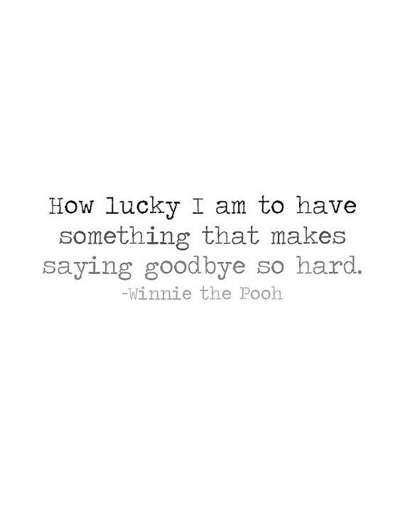 Pooh Quote About Saying Goodbye: Winnie The Pooh Quote Printable Wall From Lesfleurspapier