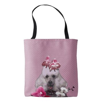 Pink poodle All-Over-Print Tote Bag