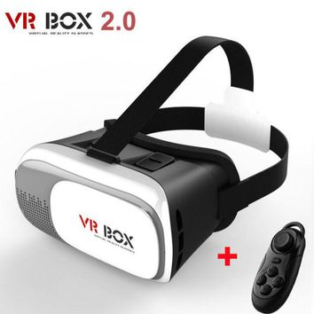 DCCKWQA New Virtual Reality VR BOX II 2.0 Version 3D Glasses Google Cardboard VR Glasses 3D Video Movie Game For Smartphones 3.5-6 inch