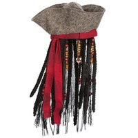 Captain Jack Sparrow Pirates of the Caribbean Hat with Hair for Boys | Costume Accessories | Disney Store