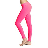 Essential Long Legging in Pink Flame by Beyond Yoga - FINAL SALE