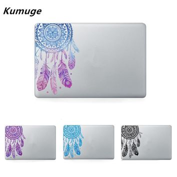 Feather Pattern Flowers Vinyl Decal Laptop Sticker For Macbook Air Pro Retina 11 12 13 15 Inch Laptop Skin For Macbook Air 13
