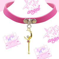 kawaii pink vegan Choker from Kokopie