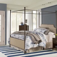 1826 Mcarthur Canopy Bed Set - Bronze Finish - Bed Frame Included