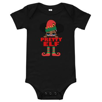 Pretty Elf Infant One Piece Body Suit African American
